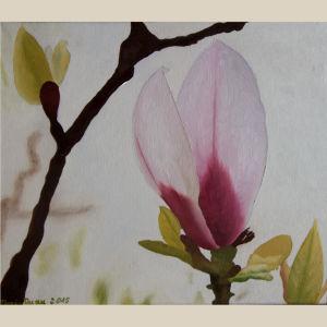 Ölbild,magnolie,Ölmalerei,malen,Kunst,schaffen,freude